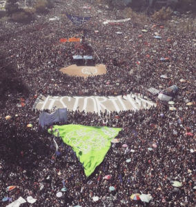 Marcha feminista 8M 2020 en Santiago