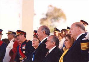 Ricardo Lagos en la parada militar año 2002